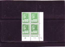 N° 1814 - 0,60F BEQUET -1PHO - A De A+B 1° Tirage Du 29.8 Au 16.10.74 - 12.09.1974 - - Ecken (Datum)