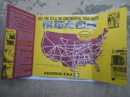 See The U.S.A. On Continental Trailways - Tour Des Etats-Unis En Autobus Système De Bus Trailways - United States