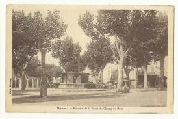 Nyons - Fontaine De La Place Du Champ De Mars - Animée -  A Voir - 1 - Nyons