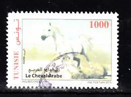 Tunesie 2015 Mi Nr 1854 , Paarden. Horse, ( Linksboven Iets Beschadigd) - Tunesië (1956-...)