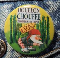 Pin Button Badge Ø38mm La Chouffe Bière Houblon I.P.A Tripel ( 2 ) - Beer