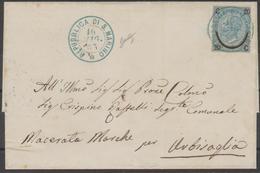 San Marino Lettera Del 16.5.65 Da San Marino Per Urbisaglia ( MC ) Affrancata Con 20 C 20 Su 15 C, Ferro Di Cavallo III - Lettres & Documents