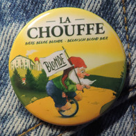 Pin Button Badge Ø38mm La Chouffe Bière Blonde ( 4 ) - Beer