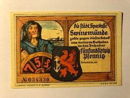 Allemagne Notgeld Swinemunde 75 Pfennig - [ 3] 1918-1933 : Weimar Republic