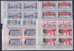 REPUBBLICA 1961 UNITA' D'ITALIA Sass.926/31 - Yv. 852/57 Serie Completa 6v. In Quartine Angolo Di Foglio Nuovi** - 6. 1946-.. Republik