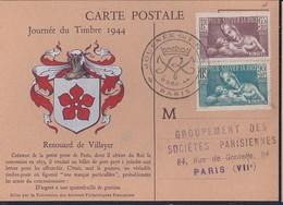 Carte Federale Journee Du Timbre 1944 Paris Pour Sauver La Race - Briefe U. Dokumente