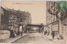 CPA 75 PARIS XX Rue Des Orteaux Perspective Sur Le Pont Du Chemin De Fer De La Petite Ceinture 1925 - District 20