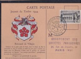 Carte Federale Journee Du Timbre 1944 Paris Chemonceaux - Briefe U. Dokumente