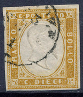 Stamp Italy Sardinia 1851-63? 10c Used Lot28 - Sardaigne