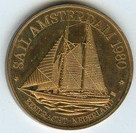 Médaille Jeton Pays-Bas Netherland Sail Amsterdam 1980 Bendracht - Monétaires/De Nécessité