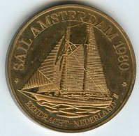 Médaille Jeton Pays-Bas Netherland Sail Amsterdam 1980 Bendracht - Monedas/ De Necesidad