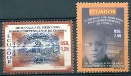 "Equateur - 2006 - Yt 1816/1817 - 80 Ans Du Journal "" El Mercurio "" - ** - Ecuador"