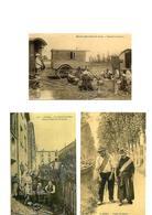 Carte Postale Petit Métiers  Vanniers Ambulants - Haleurs - Sabotier Berrichon  Repro 3 Cartes - Métiers