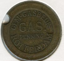 Médaille Jeton Pays-Bas Netherland Gas Penning - Rotterdam - Monetary/Of Necessity
