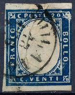 Stamp Italy Sardinia 1855-63 20c Used Lot44 - Sardinia