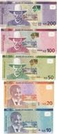 Namibia - Set 5 Banknotes 10 20 50 100 200 Dollars 2012 - 2016 UNC Lemberg-Zp - Namibie