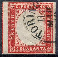 Stamp Italy Sardinia 1855-63 40c Used Lot54 - Sardaigne