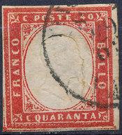 Stamp Italy Sardinia 1855-63 40c Used Lot58 - Sardinia