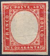 Stamp Italy Sardinia 1855-63 40c Mint Lot60 - Sardinia