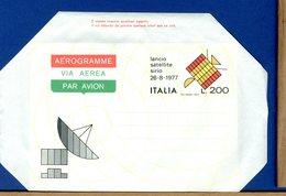 ITALIA - Aerogramma - LANCIO SATELLITE SIRIO 1977 - 6. 1946-.. Repubblica