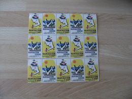 Bloc De 15 Erinnophilie Medicament Glucalcium - Commemorative Labels