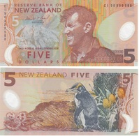 New Zealand - 5 Dollars 1999 AUNC Polymer Lemberg-Zp - Nuova Zelanda