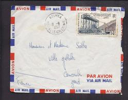 ENVELOPPE NOUVELLE CALEDONIE 1957 NOUMEA PAR AVION - Luftpost