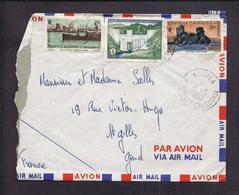 ENVELOPPE NOUVELLE CALEDONIE 1957 NOUMEA PAR AVION - Nouvelle-Calédonie