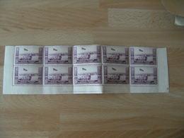 Erinnophilie  Blo De 10 Exposition Philatelique Afrique Nord Vignette Timbre - Commemorative Labels