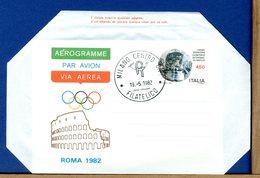 ITALIA - AEROGRAMMA - SESSIONE COMITATO OLIMPICO INTERNAZIONALE - ROMA 1982 - COLOSSEO COLISEUM - Entiers Postaux