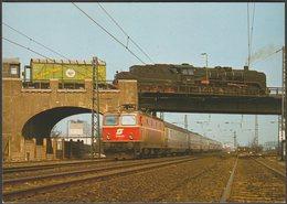 Zugkreuzung In Frankfurt-Ost, 1980 - Reiju AK - Trains