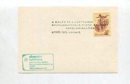 """Ungarn / 1973 / 2 Sonderbelege """"MALEV/Lufthansa-Aerophilatelieausstellung"""" (5/122) - Airmail"""