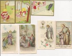 Beau Petit Lot De 7 Images Pieuses Enfantines - J. Gouppy Et Autres - Devotieprenten