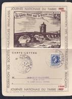 Carte Lettre Locale Journee Du Timbre 1944 Lyon Marianne D'alger - France