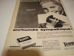 ANCIENNE AFFICHE  PUBLICITE MOUCHOIR PAPIER TEMPO 1960 - Autres
