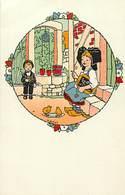 - Thèmes -ref-W939- Illustrateurs - Illustrateur Hansi - Enfants  Et Poussins - Carte Bon Etat - - Hansi