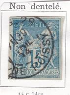 SAGE N° 90 TYPE IIC  NON DENTELE    + CAD  PARIS 28  X..... DE POISSY 29 AVRIL 1894 - REF AC  COTE 60€ - 1876-1898 Sage (Type II)