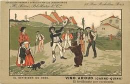 -thèmes -ref-W9328- Publicite Vino Aroud - Ferre Blottiere & Cie -paris- Exhibidor De Osos - Montreur D Ours - Espagne - - Publicité