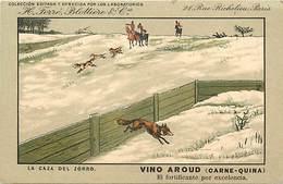 -thèmes -ref-W9326- Publicite Vino Aroud - Ferre Blottiere & Cie - Paris - Casa Del Zorro - Renard - Renards - Espagne - - Publicité