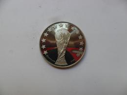 MONEDA OFICIAL FIFA  MUNDIAL ITALIA 90 PLATA 925, 24g PROOF - Fútbol