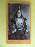 Photo Cdv Militaire DRAGON - Photographe Abel à TOURS - Guerre, Militaire