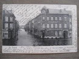 Cpa Sint-Truiden Saint Trond - Rue De La Station Gare - Grand Hotel Des Voyageurs - Nels 66 18 - 1901 - Sint-Truiden