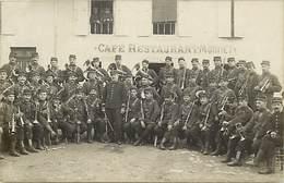 - Thèmes -ref-W915- Militaria - Fanfare Militaire - Restaurant Monnet A Situer - Fanfares - Instruments De Musique - - Régiments