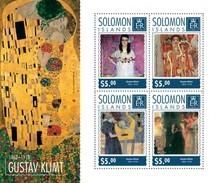 SOLOMON ISLANDS 2014 SHEET GUSTAV KLIMT ART PAINTINGS ARTE PINTURAS Slm14701a - Salomon (Iles 1978-...)