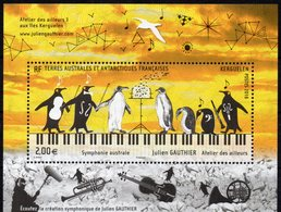 T.A.A.F. // F.S.A.T. 2018 - Symphonie Australe, Pingouins, Musique - BF Neufs // Mnh - Unused Stamps