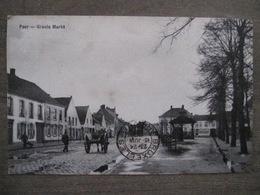 Cpa Peer (Maaseik) - Groote Markt - 1909 - Calèche - Geb. Smets, Peer - Peer
