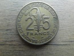 West Africa  25  Francs  1999  Km 9 - Monnaies