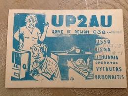 Lithuania Utena USSR Period Radio Station Card 1970-79 - Lituania