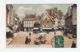 Dijon. La Place François Rude. Avec Camion Voiture De Glacier. Colorisée. (2782) - Dijon