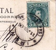Tarjeta Postal Irun Irún 1906 Espagne Taxe España Pays Basque País Vasco Pasaia Pasajes - 1889-1931 Koninkrijk: Alfonso XIII